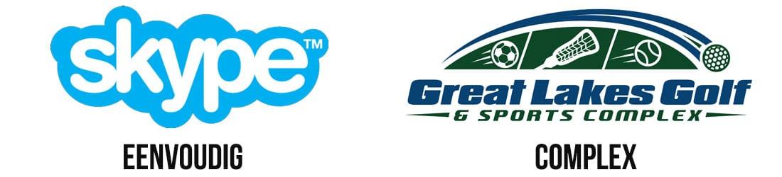 eenvoudig vs complex logo